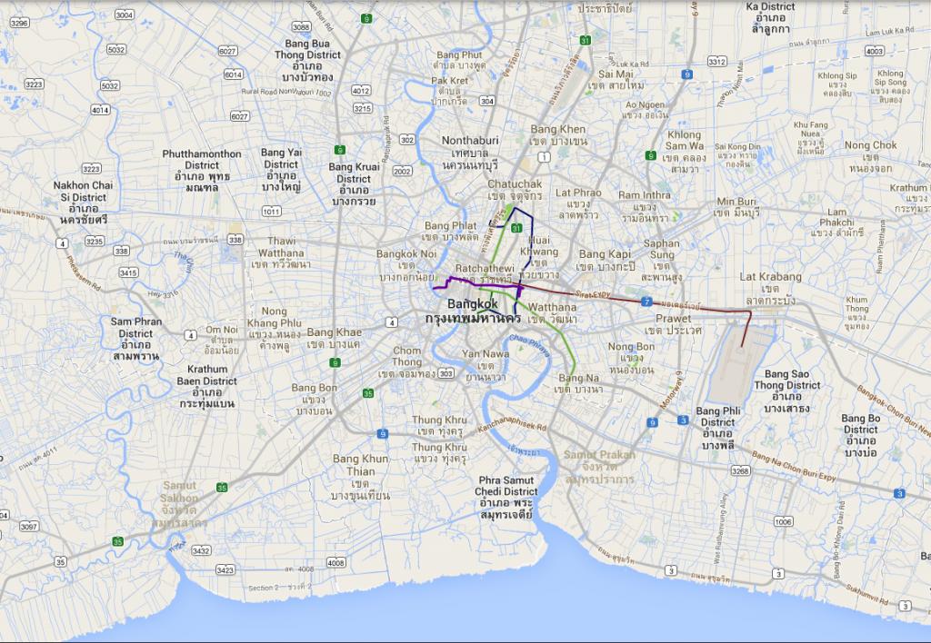 Zoomet ud (mere eller mindre hele Bangkok).
