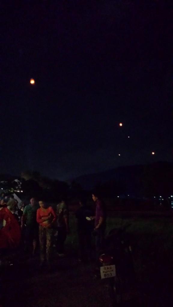 Loy Krathong-lamper