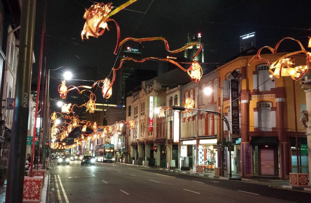 Singapore Chinatown lysheste (beskåret)