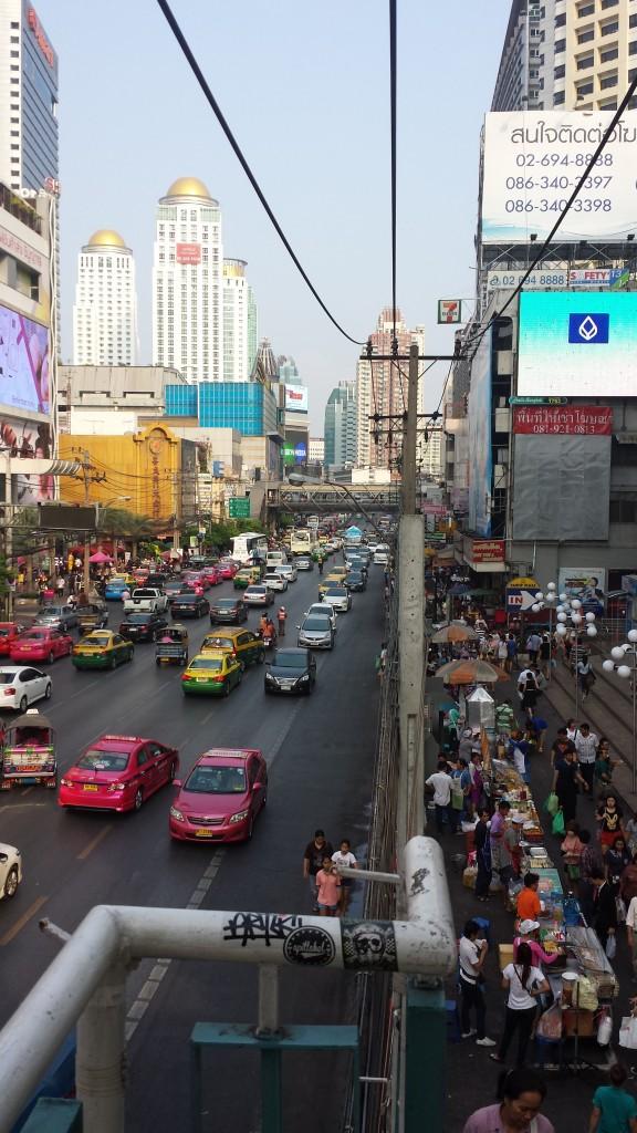 Bangkok vej set fra oven