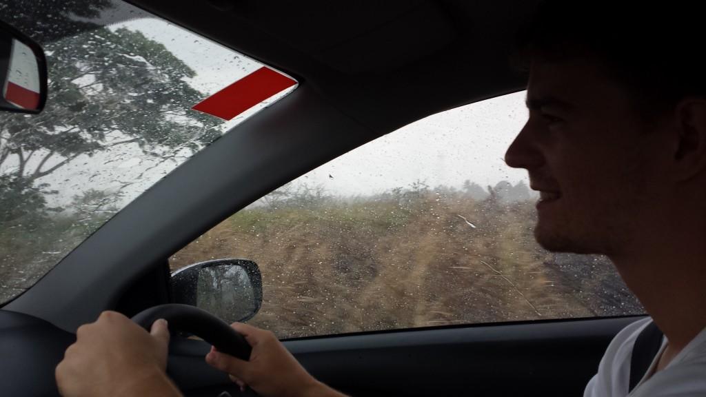 Damspilssted vores bil regn Thomas