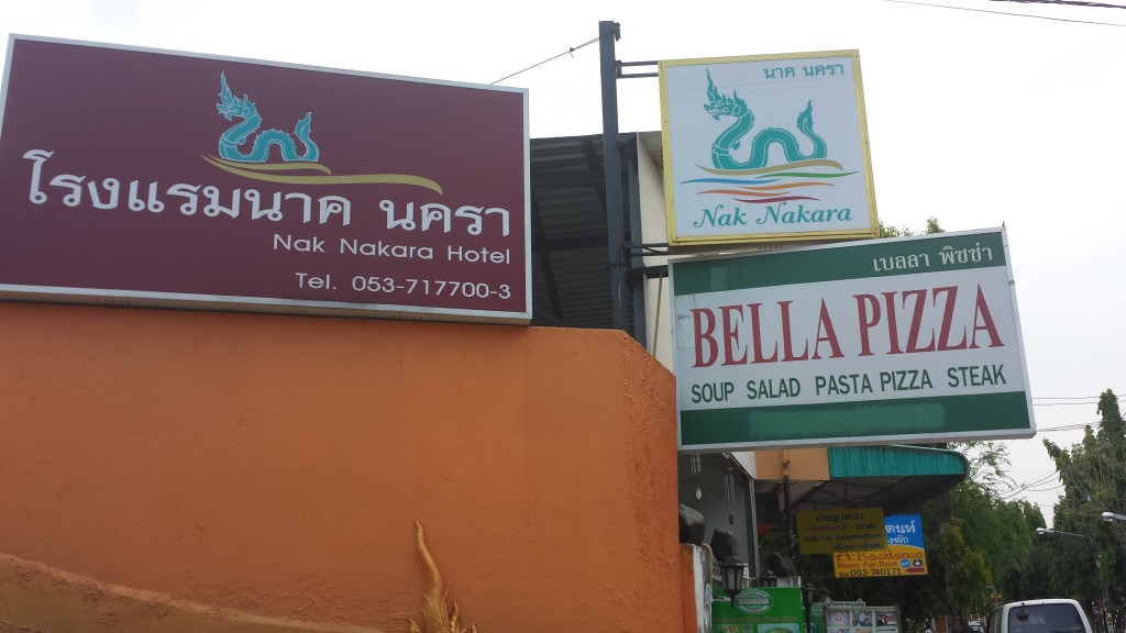 Chiang Rai hotel og Bella Pizza