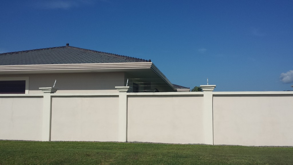 Hus med stroem paa muren