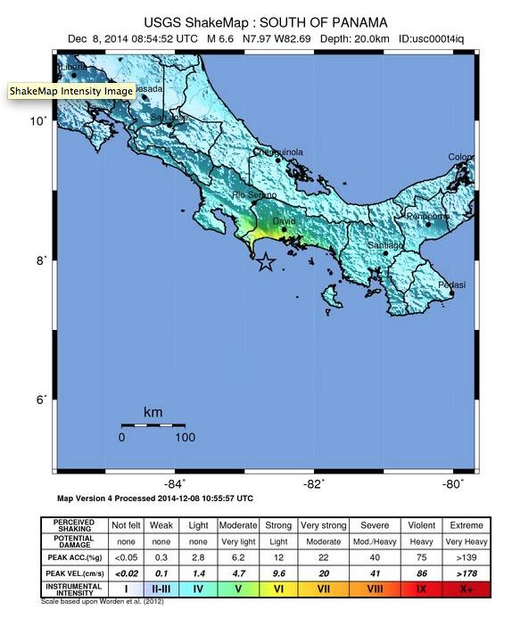 USGS jordskaelv