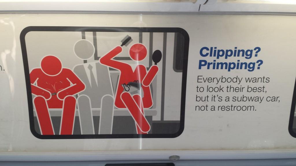 Skilt i metrotog