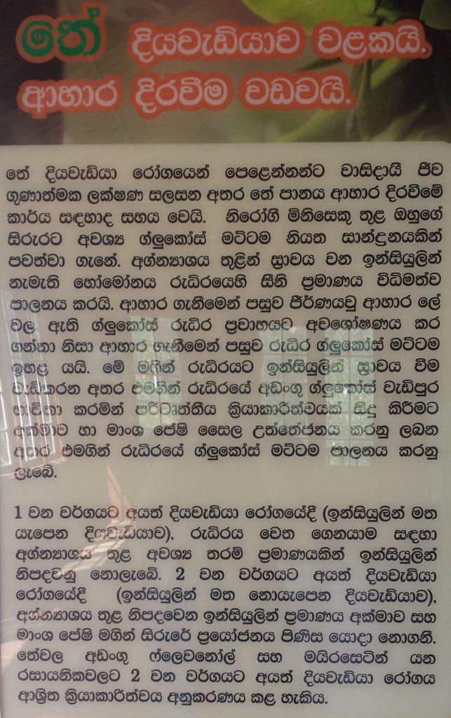 Kandy temuseum planche singalesisk skrift2 (klippet2)
